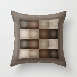 Abstract Earth Tones Throw Pillow
