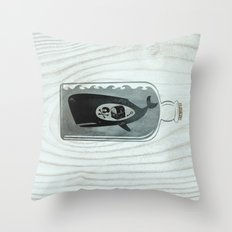 Whale in a Bottle | Treasure and Skull Throw Pillow
