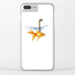 periscope goldfish Clear iPhone Case