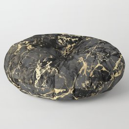 Black & Gold Marble Floor Pillow