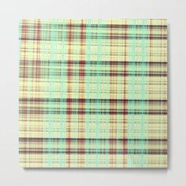 Checkered Fabrique Metal Print