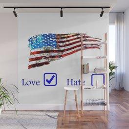 Love or Hate Wall Mural