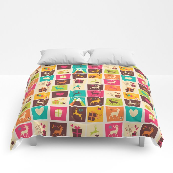 Christmas square pattern 02 Comforters