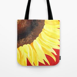 Sunflower on Red #2 Tote Bag