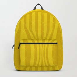 VIBRANT YELLOW GEOMETRIC PATTERN Backpack