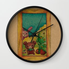 Forest wool Wall Clock