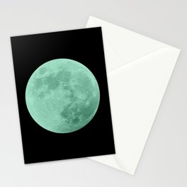 TEAL MOON // BLACK SKY Stationery Cards