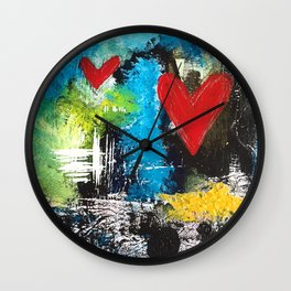 MIDNIGHT LOVE Wall Clock