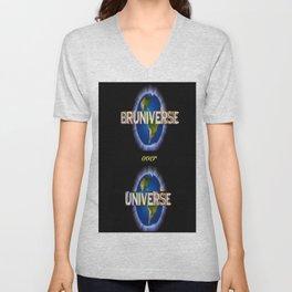 Bruniverse over Universe Unisex V-Neck