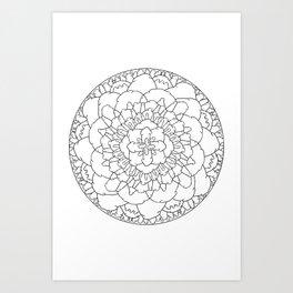The Dick Mandala Art Print