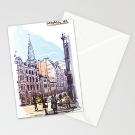 Color Sketch from London 02 Stationery Cards