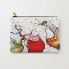 Colorful Wiggly Wobbly Wine Paintings by Drunk Girl Art Carry-All Pouch