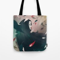pocahontas Tote Bags featuring Pocahontas by Seventy Two Studio