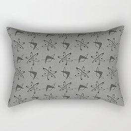 Atoms and Boomerangs on Gray Rectangular Pillow