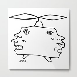 Helicopter Head Metal Print