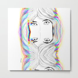 fresh face 2 /glitched Metal Print