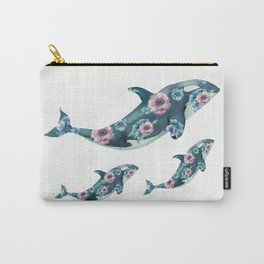 Rose Garden Whales Carry-All Pouch