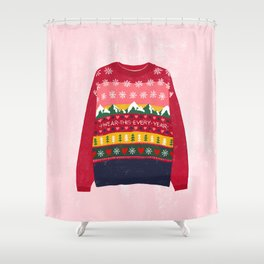 I wear this every year in Christmas Shower Curtain