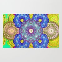 psychedelic Area & Throw Rugs featuring psychedelic  by Thedevilguru