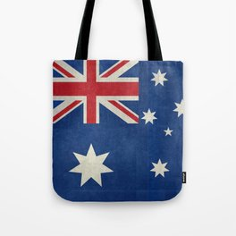 "Australian flag, retro ""folded"" textured version (authentic scale 1:2) Tote Bag"