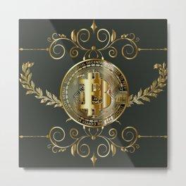 Bitcoin Gold Metal Print