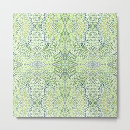 """""""And Then Again, """" in Green Multicolor Metal Print"""