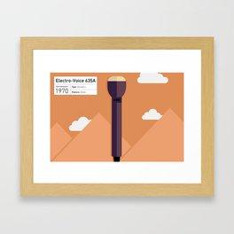 EV635a Microphone Illustration Print Framed Art Print