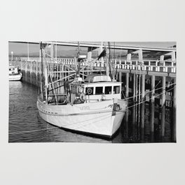 San Remo Boats Black and White Rug