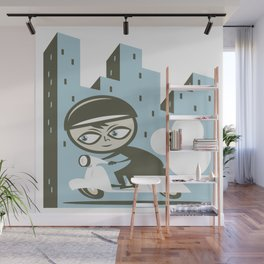 Scooter Boy Wall Mural