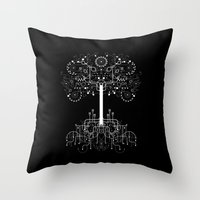gondor Throw Pillows featuring The White Tree by Danny Schlitz
