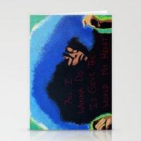 erykah badu Stationery Cards featuring Afro Blue: Erykah Badu by Artistik Rebel Creative