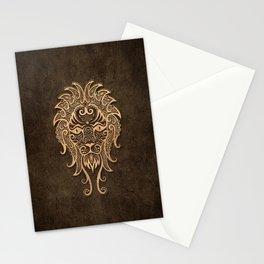 Vintage Rustic Leo Zodiac Sign Stationery Cards
