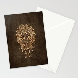 Vintage Rustic Leo Zodiac Sign Stationery Cards