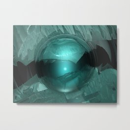 Green Cavern Reflections Metal Print