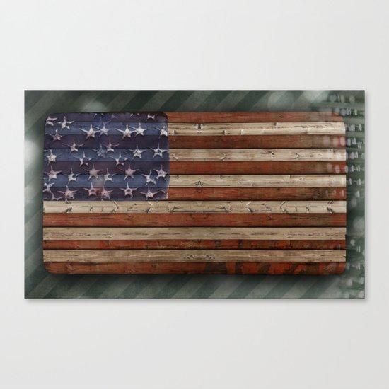 Stars and Stripes, America Canvas Print