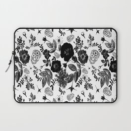 Skulls w Black Roses Laptop Sleeve