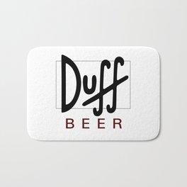 Duff Beer Logo Black Bath Mat