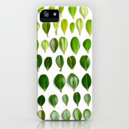 ombre leaves iPhone Case