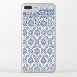 Antique Moorish Tile Pattern 6 Clear iPhone Case