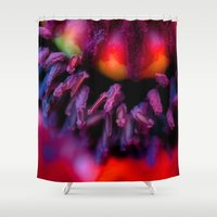 oriental Shower Curtains featuring Oriental Poppy by Kacia