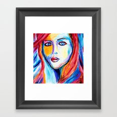 The eyes tell it Framed Art Print