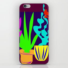 Colorful Cactus and Succulents Minimal Design Shapes iPhone Skin