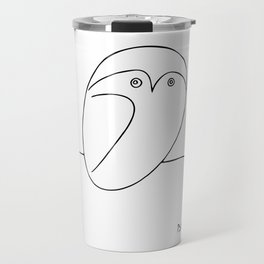 The Owl, Pablo PIcasso sketch drawing, line Design Travel Mug