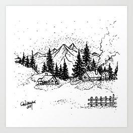 Winter - Visothkakvei Art Print