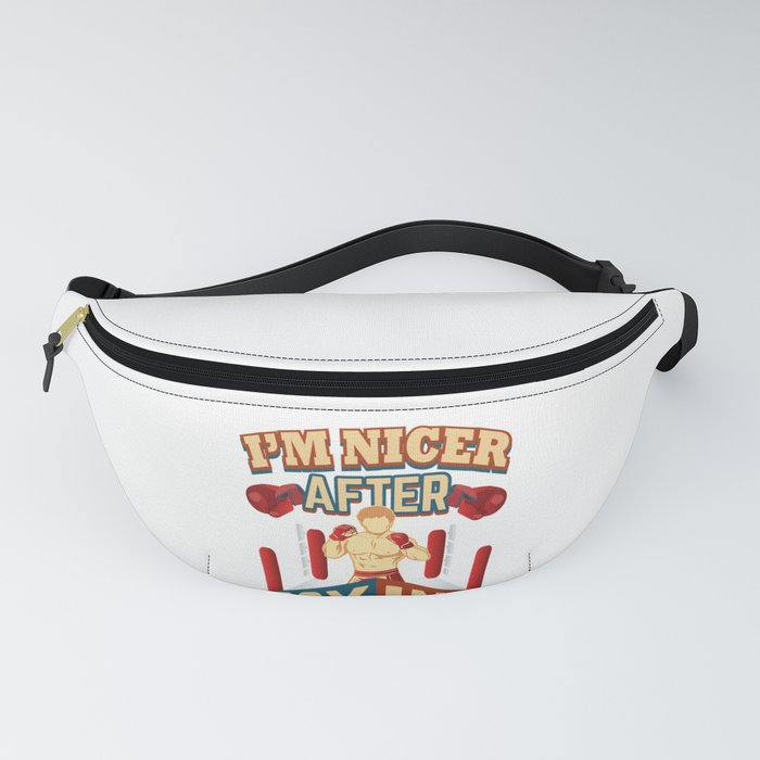Boxer I'm Nicer After Boxing Fanny Pack