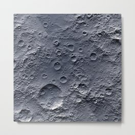 Moon Surface Metal Print