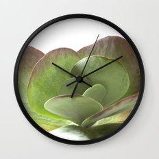 Succulent Big Leaf Wall Clock