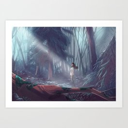 How to be a Werewolf: Malaya in the Forest Art Print