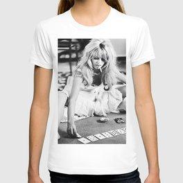 Brigitte Bardot Playing Cards T-shirt