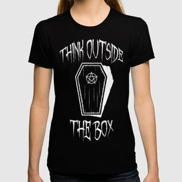 Think Outside The Box Goth Coffin Humour T-shirt